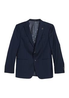 John Varvatos Solid Blue Peak Lapel Suit Separate Sport Coat