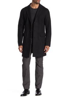 John Varvatos Solid Knit Coat