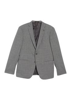 John Varvatos Solid Notch Collar Double Button Jacket