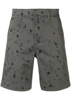 John Varvatos splash print shorts