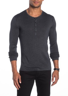 John Varvatos Slim Fit Ribbed Henley T-Shirt