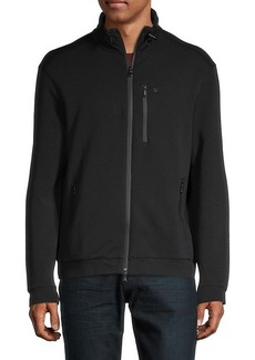 John Varvatos Stand-Collar Zip Jacket