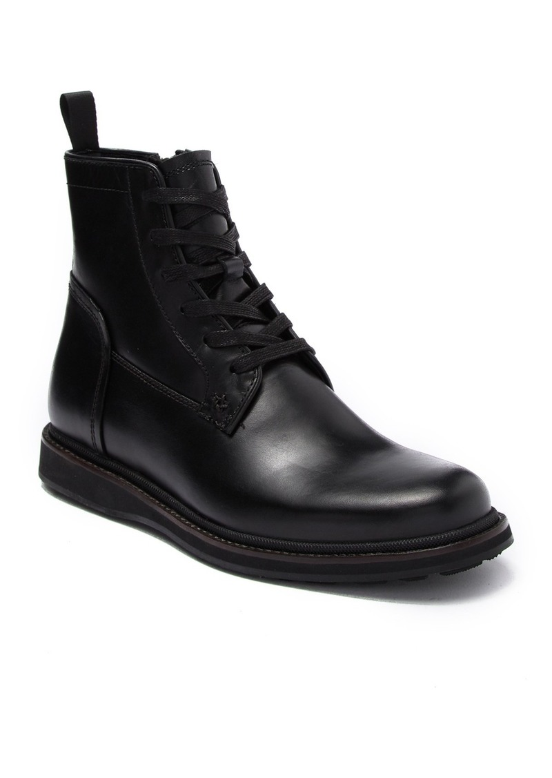 John Varvatos Star Leather Lug Lace Boot