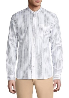 John Varvatos Star USA Regular-Fit Banded Collar Shirt