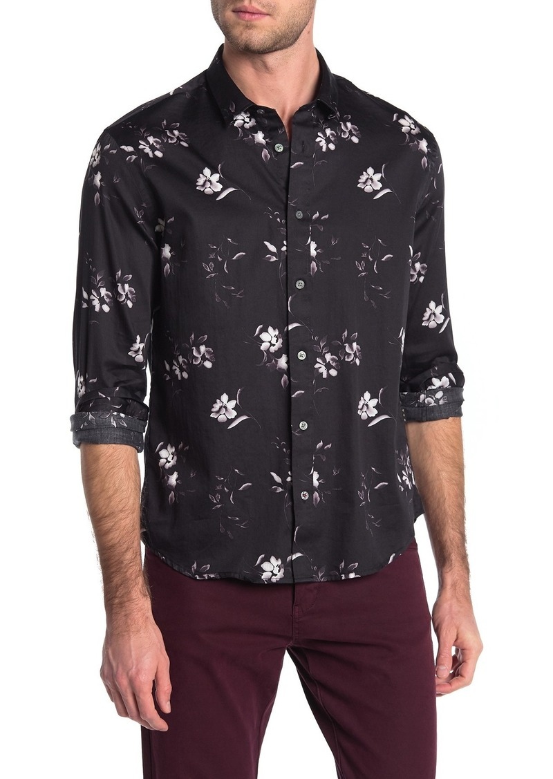 John Varvatos Stevie Long Sleeve Contrast Sport Shirt