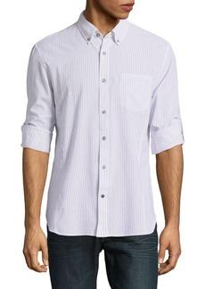 John Varvatos Striped Cotton Button-Down Shirt