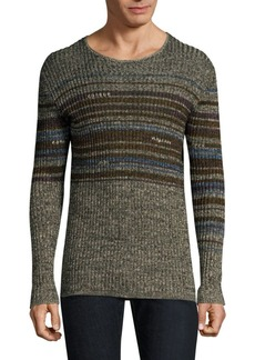 John Varvatos Striped Crewneck Pullover