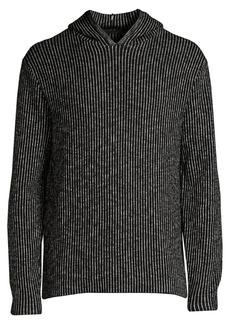 John Varvatos Striped Knit Hoodie