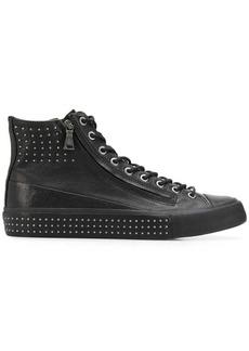 John Varvatos studded high top sneakers