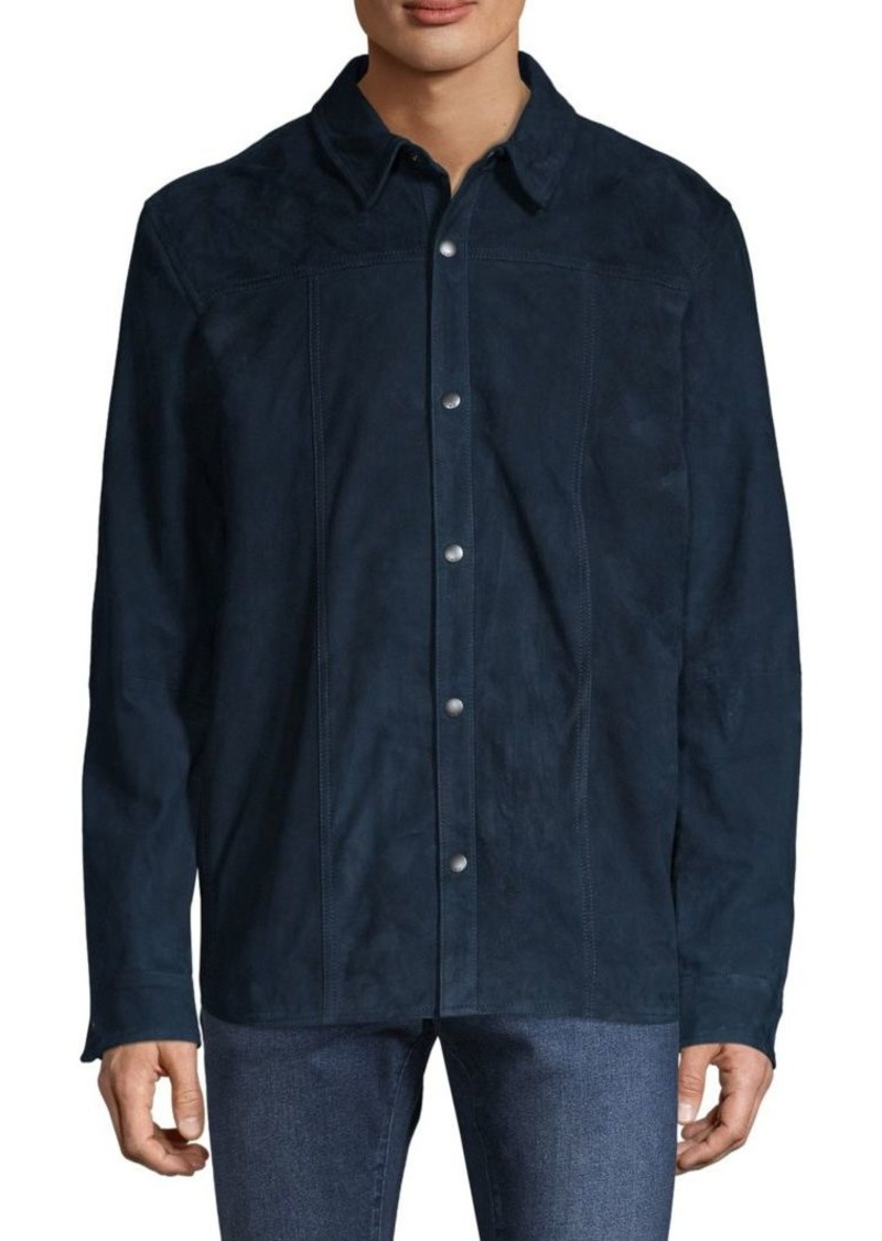 John Varvatos Suede Shirt Jacket