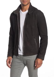 John Varvatos Suede Zip Front Jacket