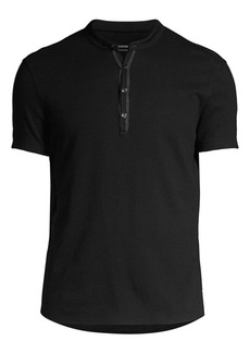 John Varvatos Taylor Short-Sleeve Henley Shirt