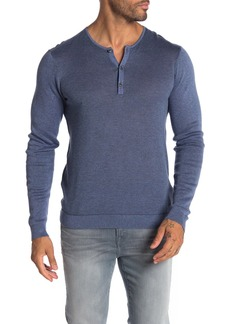 John Varvatos Textured Knit Henley