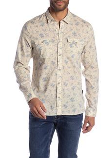 John Varvatos Textured Long Sleeve Regular Fit Shirt