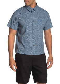 John Varvatos Trent Dot Print Regular Fit Short Sleeve Shirt