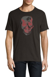 John Varvatos Two-Tone Skull Graphic Tee