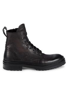 John Varvatos Union Leather Combat Boots