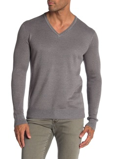 John Varvatos V-Neck Ribbed Knit Sweater