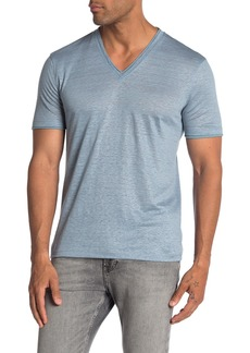 John Varvatos V-neck Short Sleeve Linen Jersey T-shirt