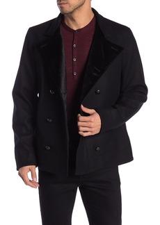 John Varvatos Velvet Collar Double Breasted Coat