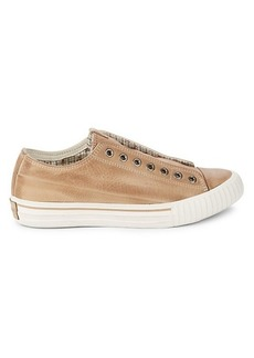 John Varvatos Vulcanized Low-Top Leather Sneakers