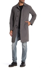 John Varvatos Welt Pocket Button Zip Front Coat
