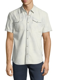 John Varvatos Western Cotton Short-Sleeve Shirt