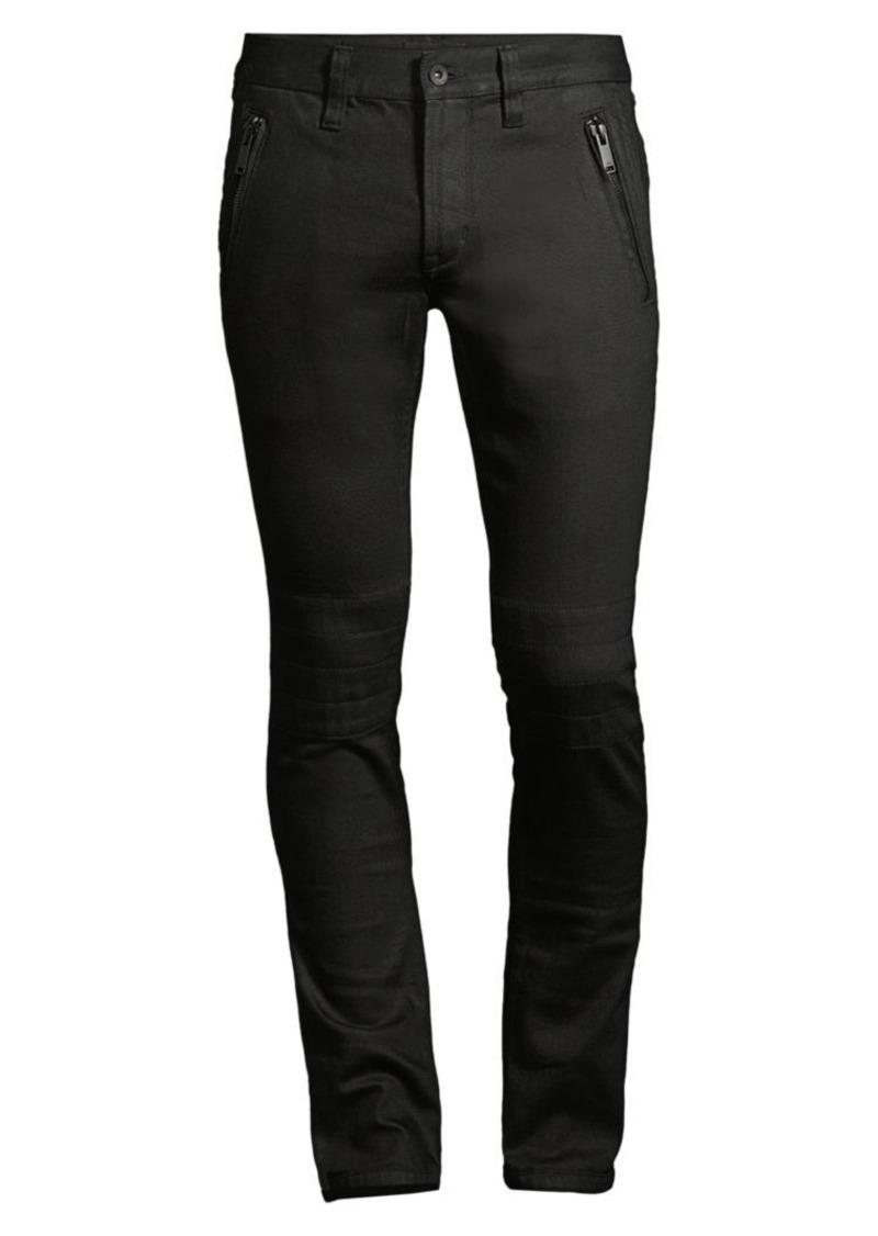 John Varvatos Wight Skinny-Fit Moto Jeans