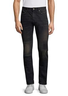 John Varvatos Wight Slim-Fit Patch Jeans