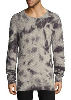John Varvatos Wool & Cashmere Tie-Dye Crewneck Sweater