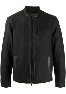 John Varvatos zip detail biker jacket