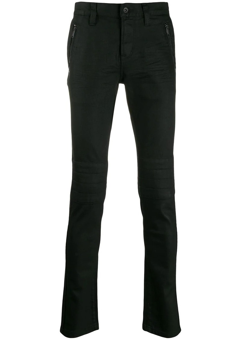 John Varvatos zip detail trousers