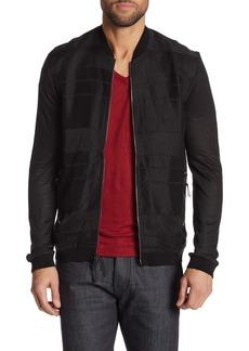 John Varvatos Zip Front Baseball Collar Jacket