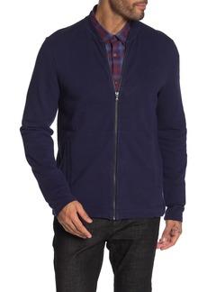 John Varvatos Zip Up Knit Jacket
