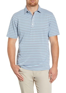 johnnie-O Airlie Classic Fit Stripe Performance Polo