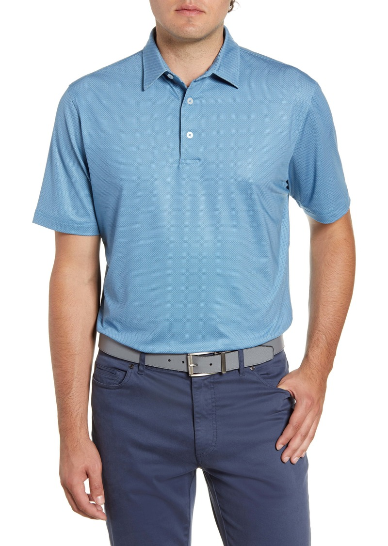 johnnie-O Augie Classic Fit Print Performance Polo