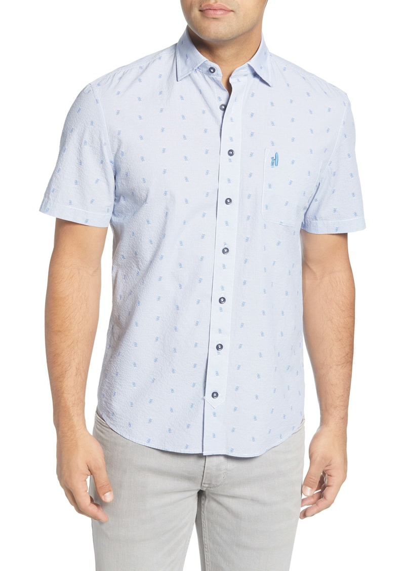 johnnie-O Cyrus Classic Fit Short Sleeve Button-Up Shirt