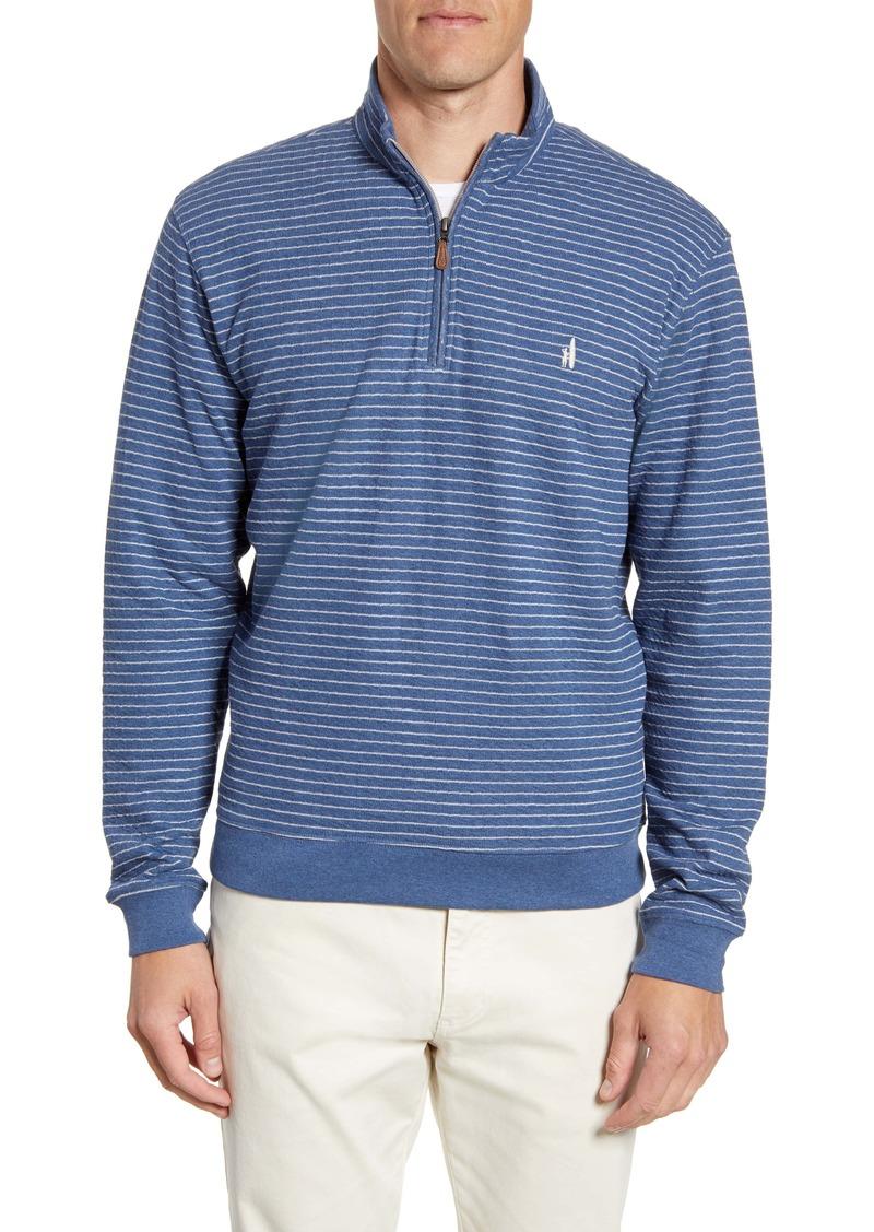 johnnie-o Emmett Stripe Quarter Zip Pullover