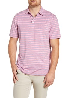 johnnie-O Foster Classic Fit Stripe Performance Polo