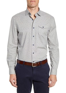 johnnie-O Hawthorne Classic Fit Button-Up Sport Shirt