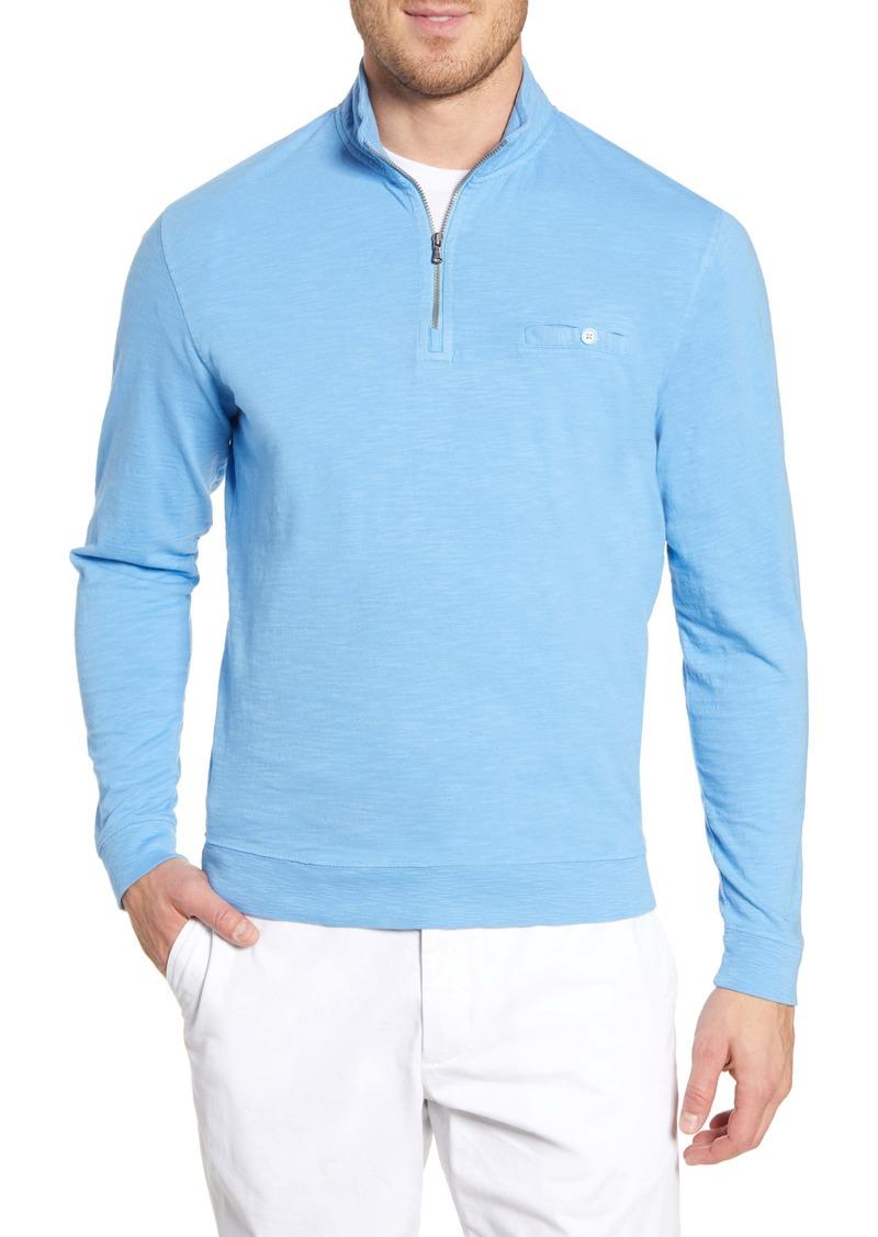 johnnie-O Kaene Regular Fit Half Zip Pullover
