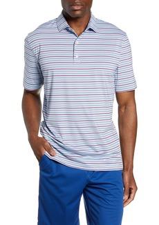 johnnie-O Kingston Classic Fit Stripe Short Sleeve Prep-Formance Polo