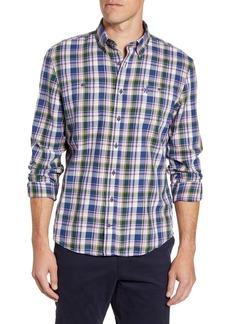 johnnie-O Tex Classic Fit Plaid Button-Down Sport Shirt