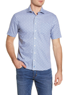 Men's Johnnie-O Marco Prep-Performance Floral Short Sleeve Button-Up Shirt
