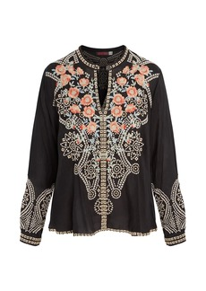 Johnny Was Alani Floral Embroidered Blouse