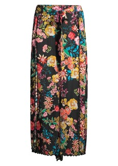 Johnny Was Albany Floral Wide-Leg Pants
