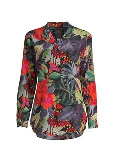 Johnny Was Amelia Floral-Print Shirt