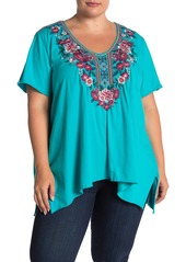 Johnny Was Annaliese Floral Embroidered Top (Plus Size)