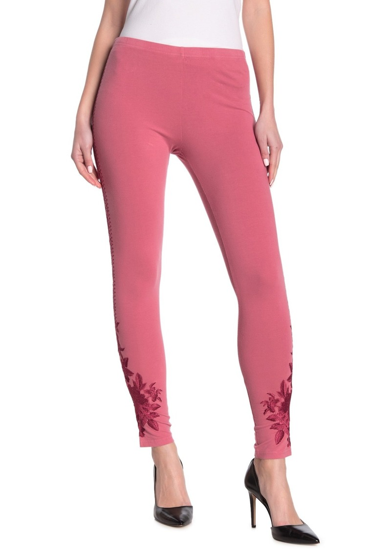 Johnny Was Anneliese Tonal Embroidered Leggings