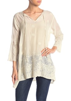 Johnny Was Antik Tonal Embroidered Tunic